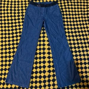 Sequin Waist Wide Leg Premium Dressy Editor Jeans